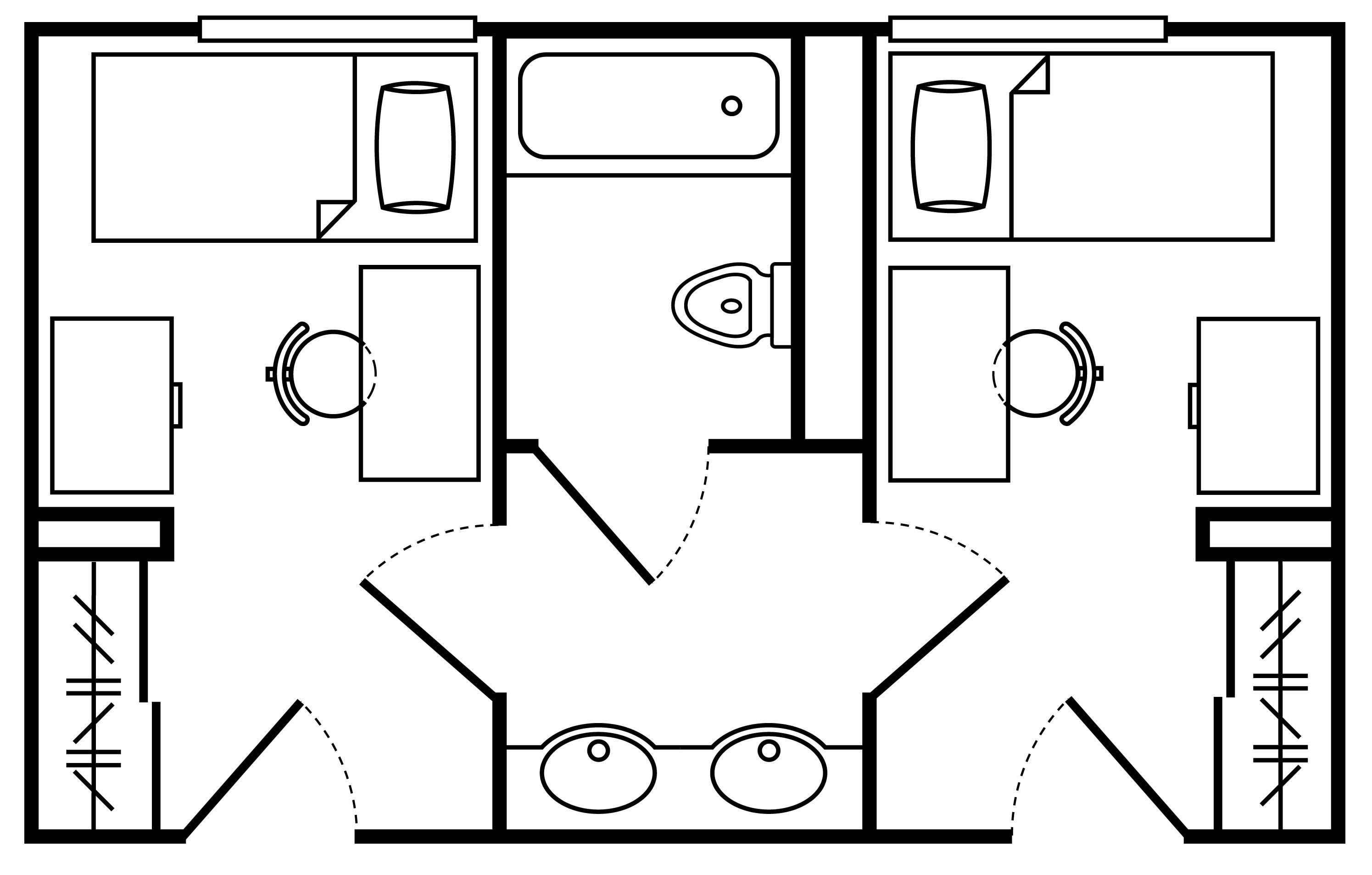 Floor Plan Private Room Shared Bath