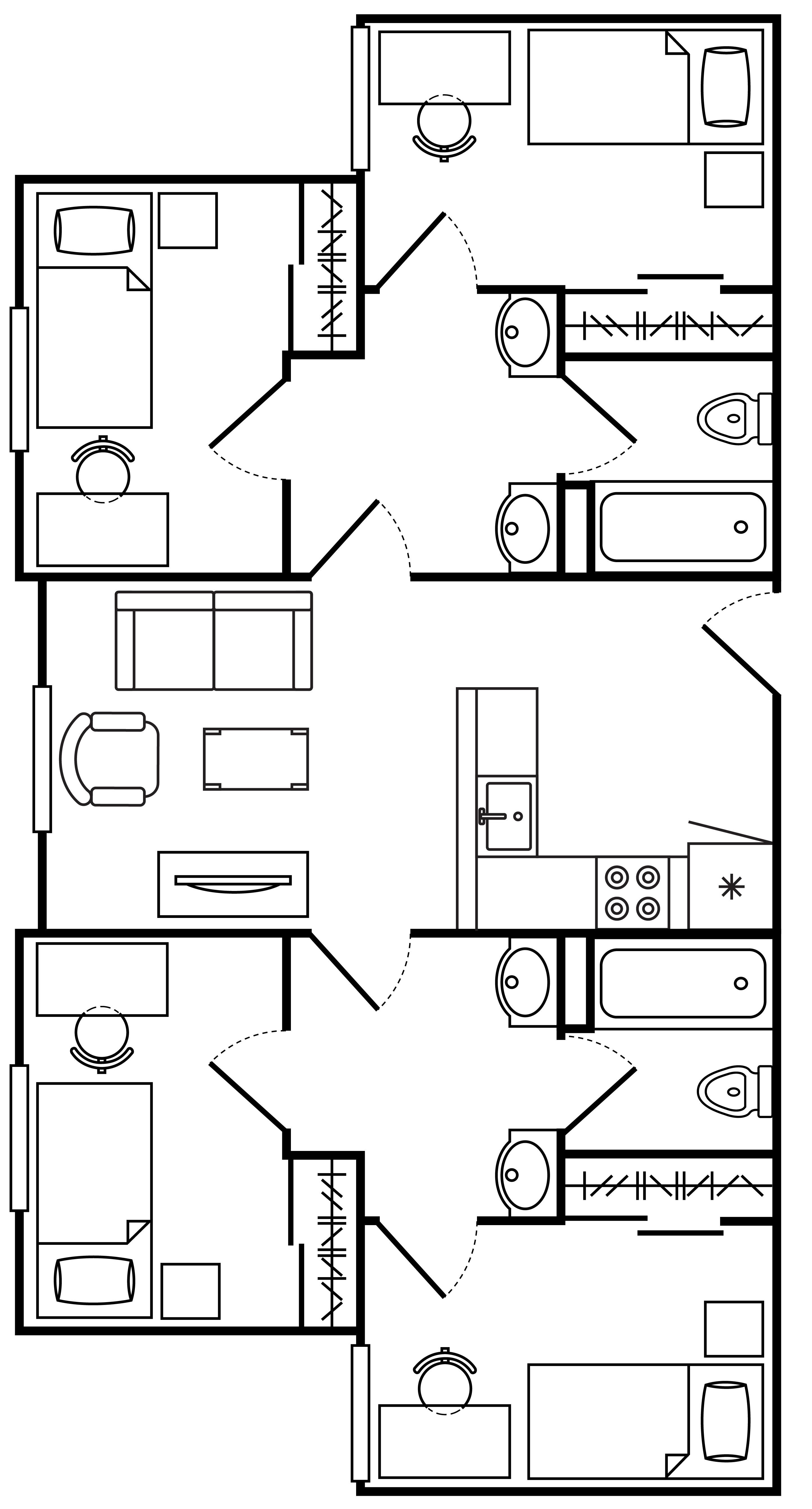 Floor Plan Las Casas 4 Bedroom